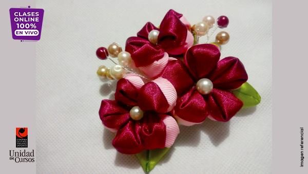Flores Kanzashi (4 Clases)